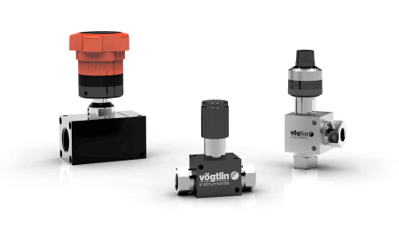 High-precision control valves for gases and liquids M-Flow