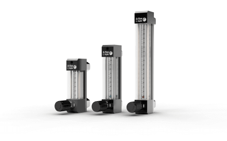 Variable Area Flowmeters Q-Flow with 3 measuring tube sizes