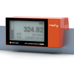 "Battery Powered Digital Mass Flow Meters for Gases red-y compact series G1/2"" Alu version"